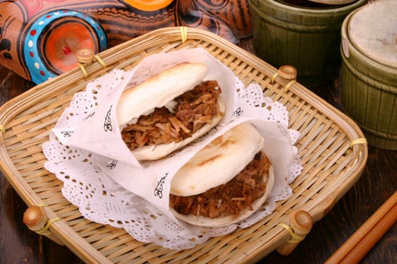 photo image picture of xian marinated meat in baked bun. Black Bedroom Furniture Sets. Home Design Ideas